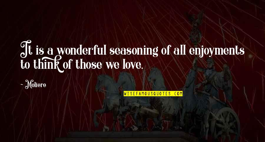 Treasure Proverbs Quotes By Moliere: It is a wonderful seasoning of all enjoyments