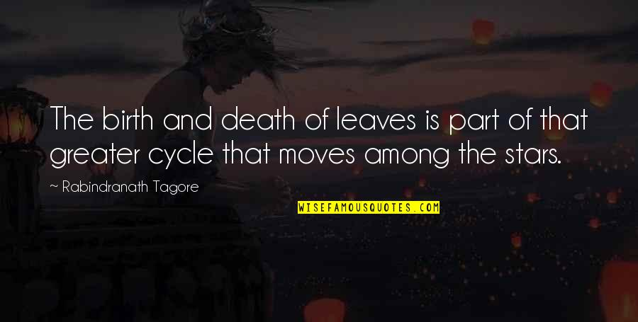Tree And Leaves Quotes By Rabindranath Tagore: The birth and death of leaves is part