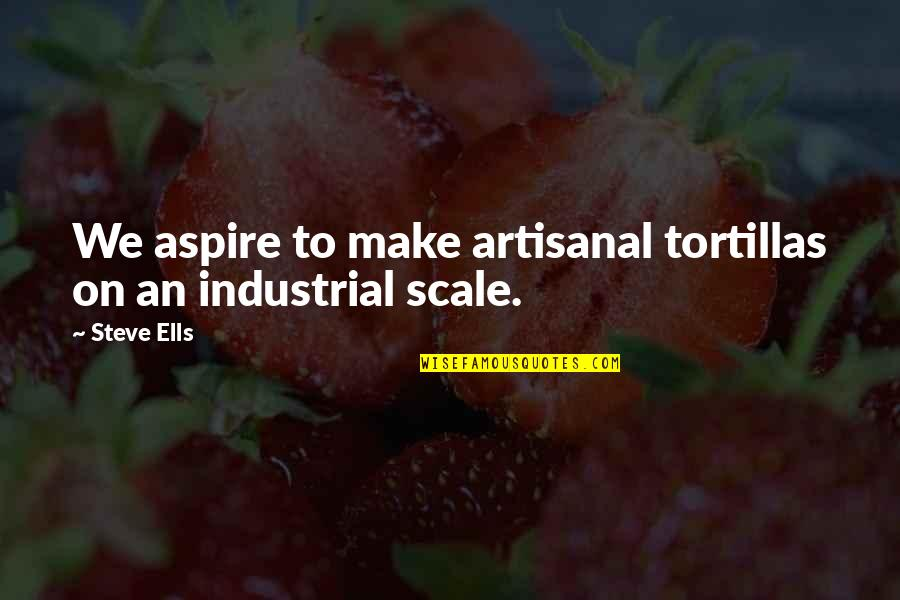 Trees And Learning Quotes By Steve Ells: We aspire to make artisanal tortillas on an