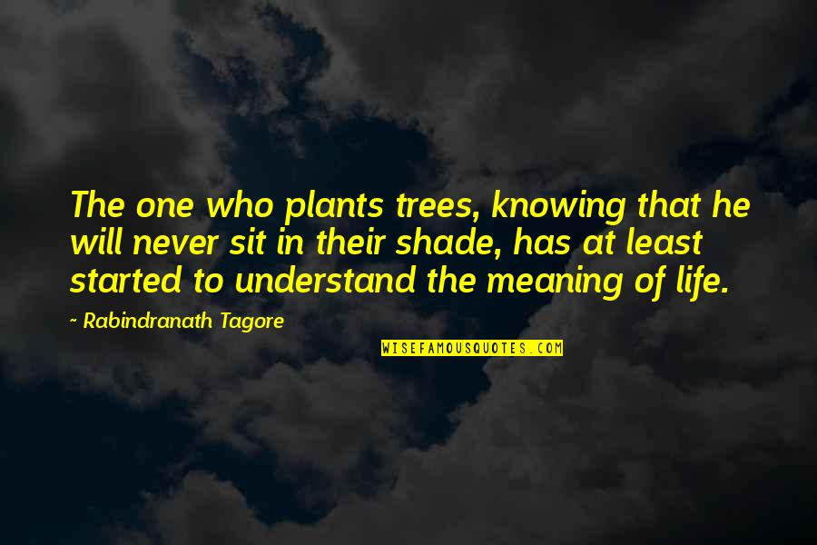 Trees And Shade Quotes By Rabindranath Tagore: The one who plants trees, knowing that he