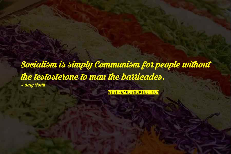 Trendsetters Quotes By Gary North: Socialism is simply Communism for people without the