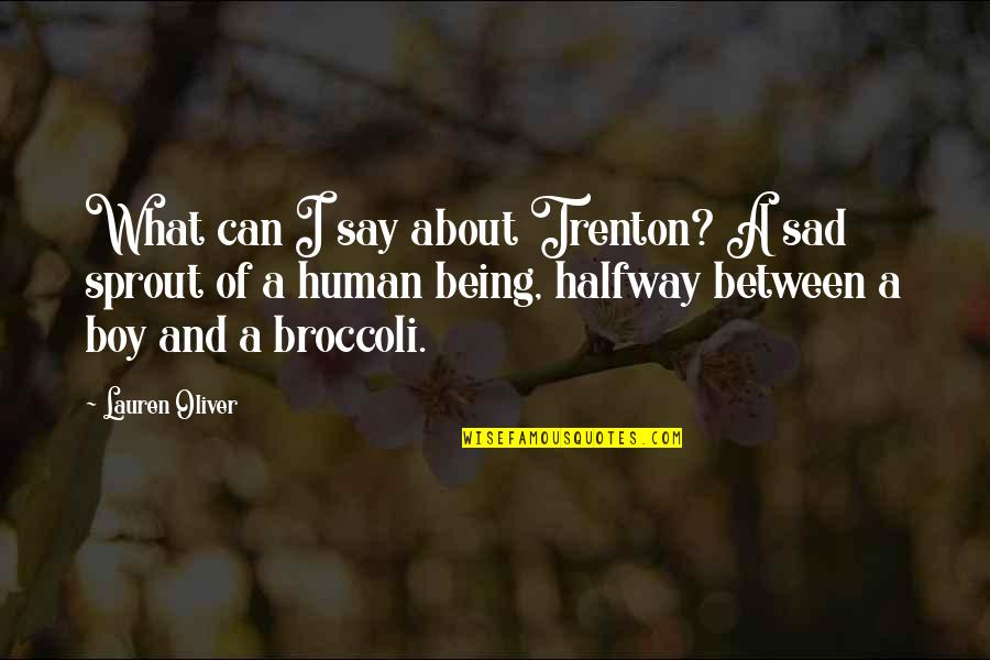 Trenton Quotes By Lauren Oliver: What can I say about Trenton? A sad