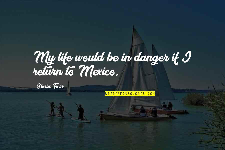 Trevi's Quotes By Gloria Trevi: My life would be in danger if I