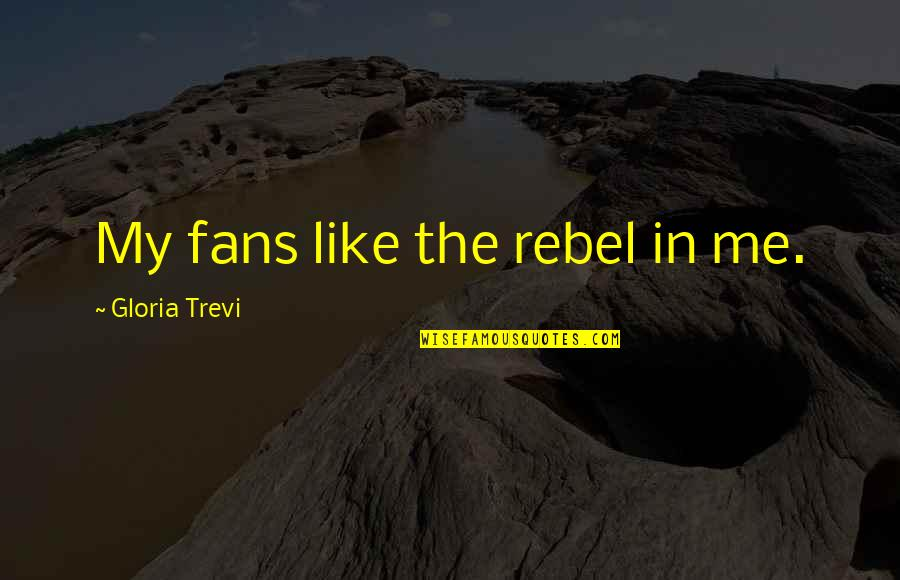 Trevi's Quotes By Gloria Trevi: My fans like the rebel in me.