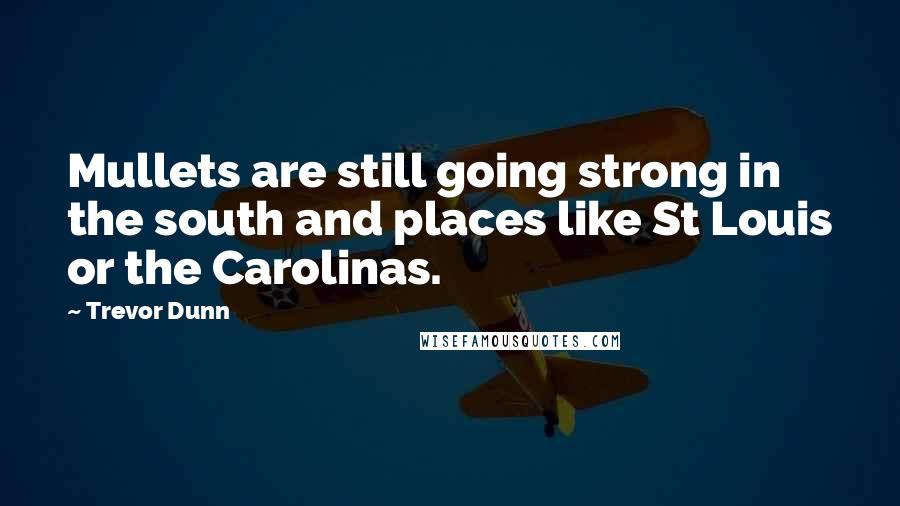 Trevor Dunn quotes: Mullets are still going strong in the south and places like St Louis or the Carolinas.