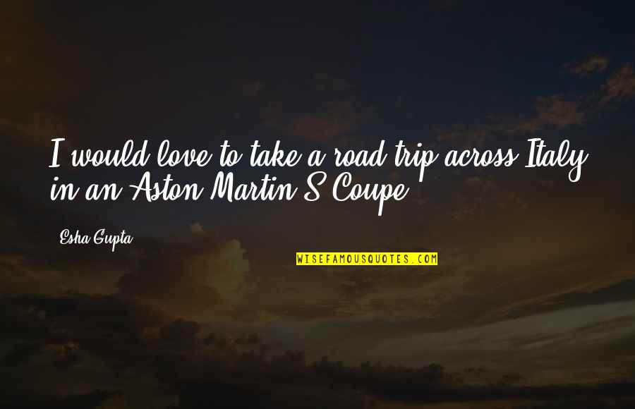 Trip To Italy Quotes By Esha Gupta: I would love to take a road trip