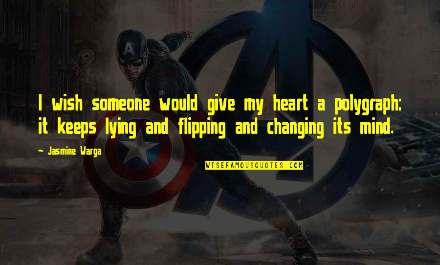 Trog Quotes By Jasmine Warga: I wish someone would give my heart a