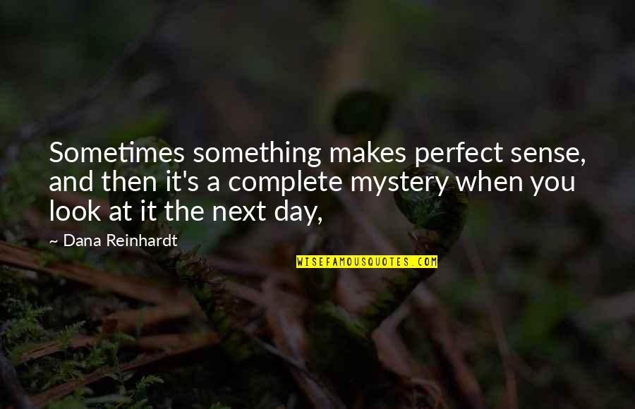 Trs Quotes By Dana Reinhardt: Sometimes something makes perfect sense, and then it's