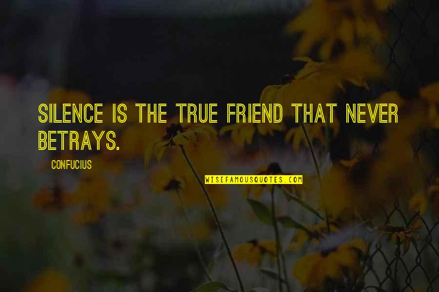 True Best Friendship Quotes By Confucius: Silence is the true friend that never betrays.