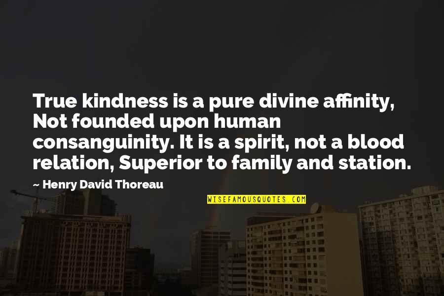 True Family Quotes By Henry David Thoreau: True kindness is a pure divine affinity, Not
