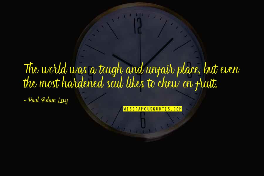 True Life Story Quotes By Paul Adam Levy: The world was a tough and unfair place,