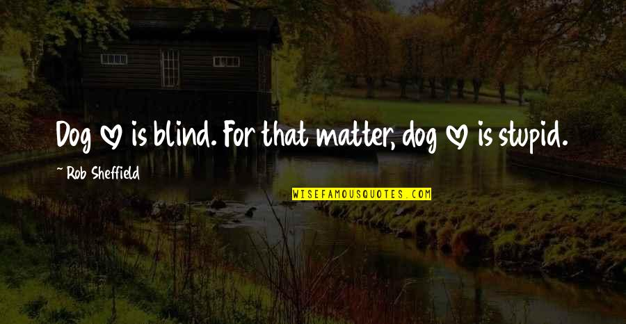 True Love Is Funny Quotes By Rob Sheffield: Dog love is blind. For that matter, dog