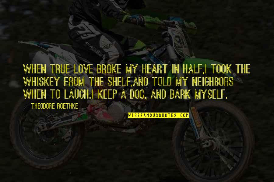 True Love Poetry Quotes By Theodore Roethke: When true love broke my heart in half,I