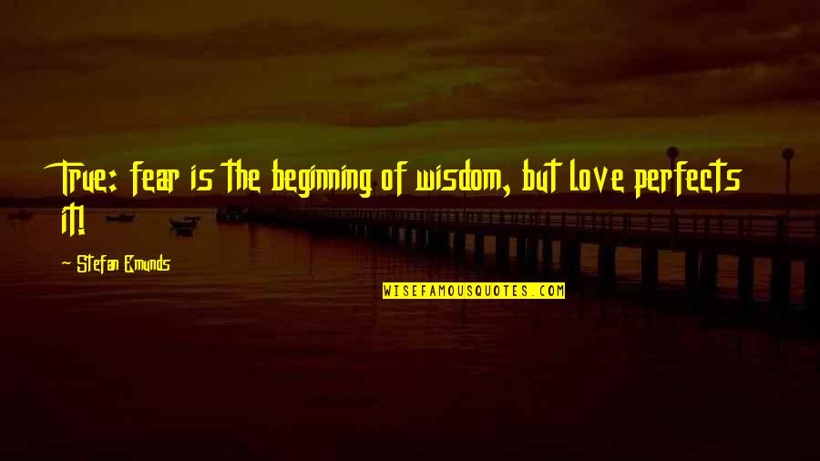 True Love Quotes Quotes By Stefan Emunds: True: fear is the beginning of wisdom, but