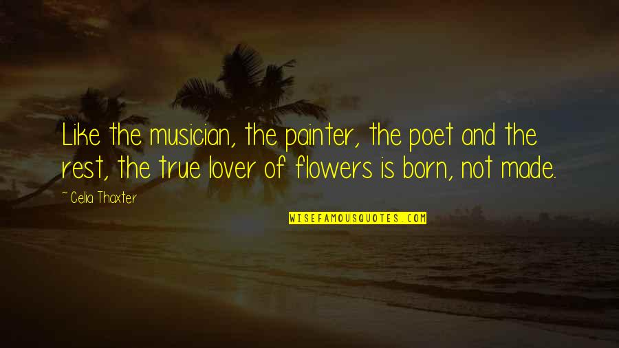 True Lovers Quotes By Celia Thaxter: Like the musician, the painter, the poet and