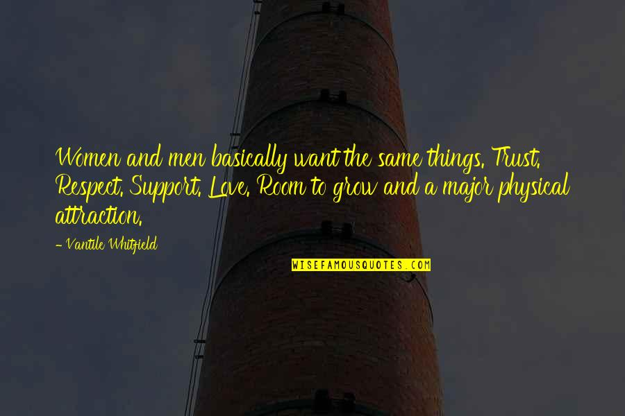 Trust Love And Respect Quotes By Vantile Whitfield: Women and men basically want the same things.