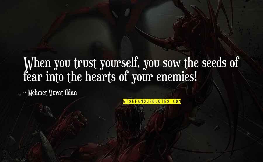 Trust Self Quotes By Mehmet Murat Ildan: When you trust yourself, you sow the seeds
