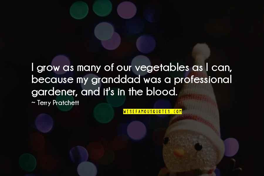 Trying Again In Love Quotes By Terry Pratchett: I grow as many of our vegetables as