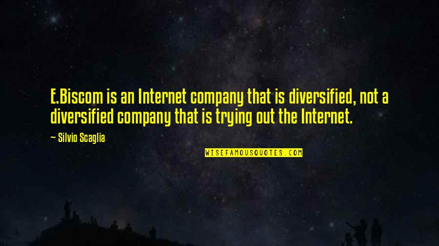 Trying Quotes By Silvio Scaglia: E.Biscom is an Internet company that is diversified,