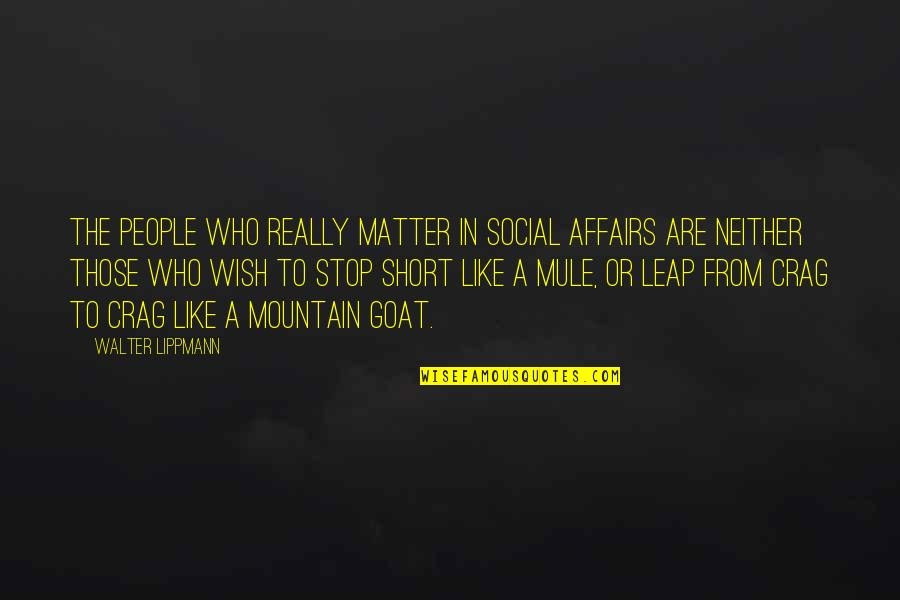 Trying To Bring Someone Down Quotes By Walter Lippmann: The people who really matter in social affairs