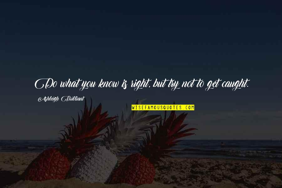 Trying To Get It Right Quotes By Ashleigh Brilliant: Do what you know is right, but try