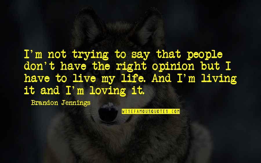 Trying To Live Right Quotes By Brandon Jennings: I'm not trying to say that people don't
