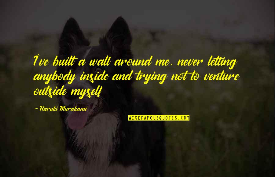 Trying To Quotes By Haruki Murakami: I've built a wall around me, never letting