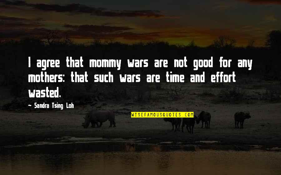 Tsing Quotes By Sandra Tsing Loh: I agree that mommy wars are not good