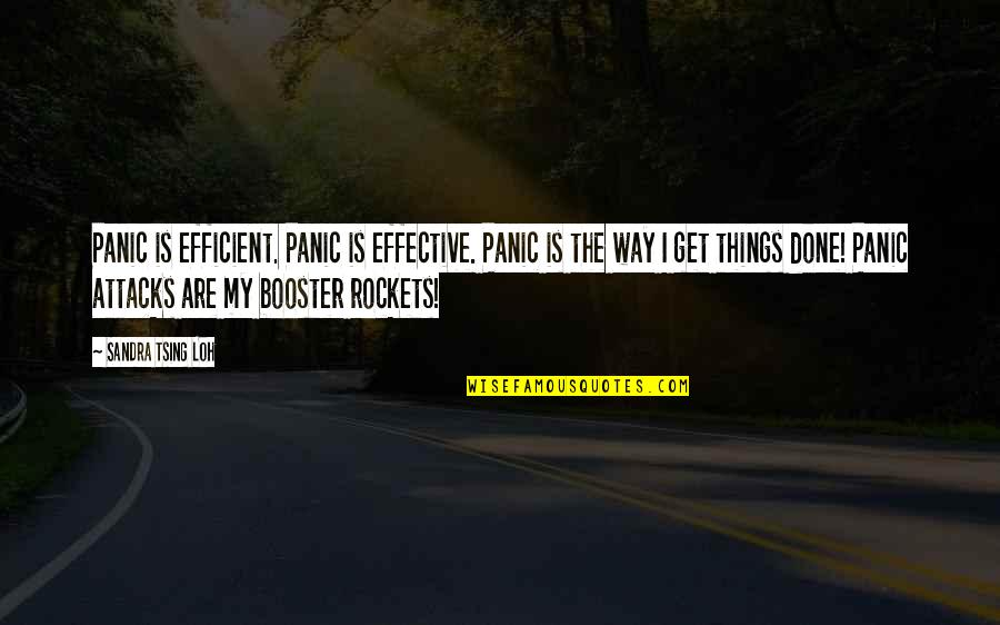 Tsing Quotes By Sandra Tsing Loh: Panic is efficient. Panic is effective. Panic is