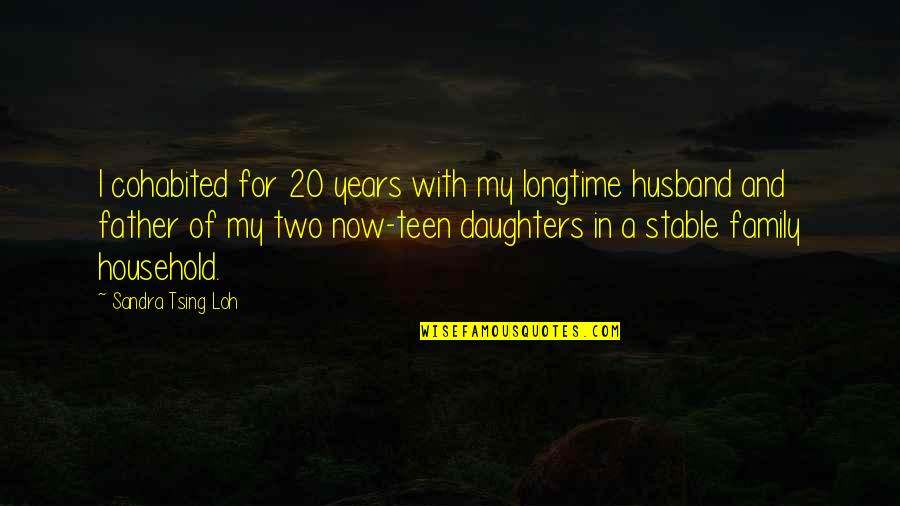 Tsing Quotes By Sandra Tsing Loh: I cohabited for 20 years with my longtime
