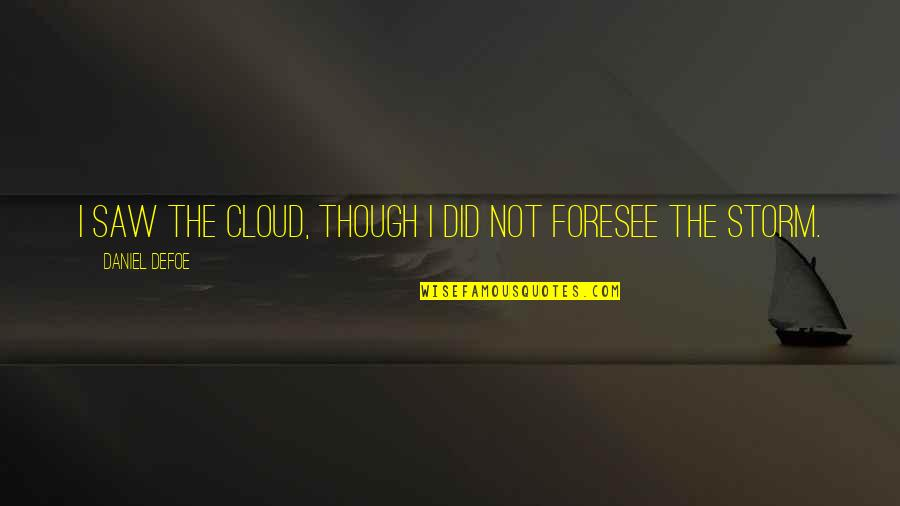 Tsx Venture Real Time Quotes By Daniel Defoe: I saw the Cloud, though I did not
