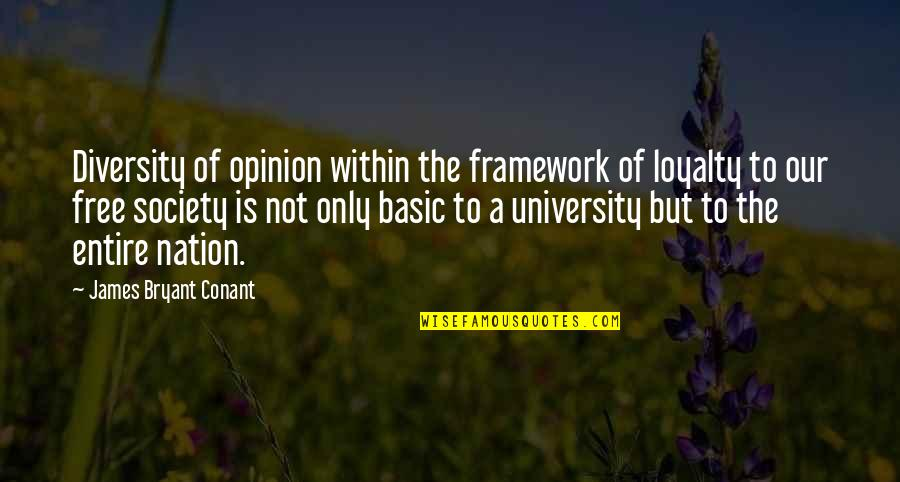 Ttys Quotes By James Bryant Conant: Diversity of opinion within the framework of loyalty
