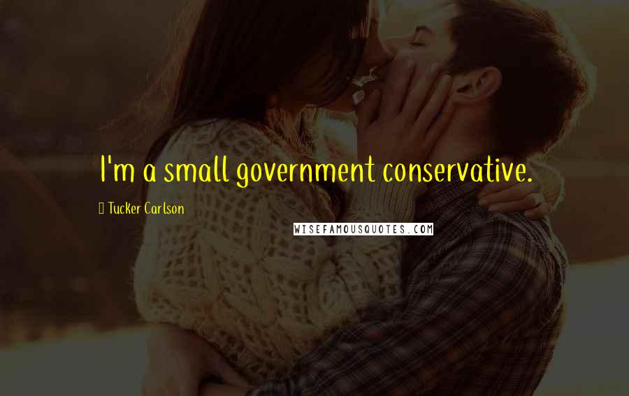 Tucker Carlson quotes: I'm a small government conservative.