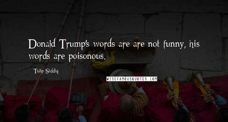 Tulip Siddiq quotes: Donald Trump's words are are not funny, his words are poisonous.