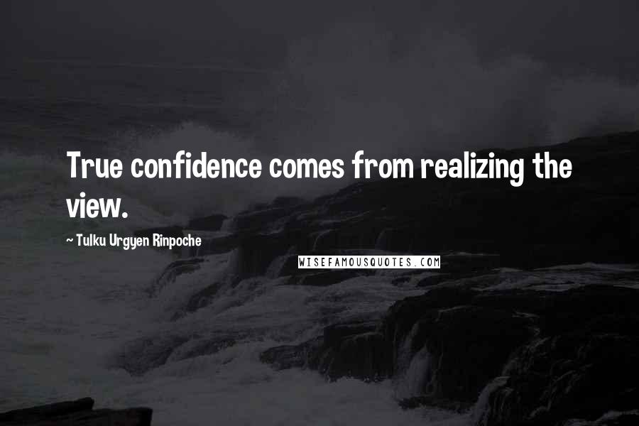 Tulku Urgyen Rinpoche quotes: True confidence comes from realizing the view.