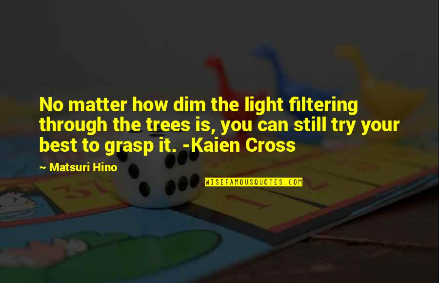 Turbo Inspirational Quotes By Matsuri Hino: No matter how dim the light filtering through