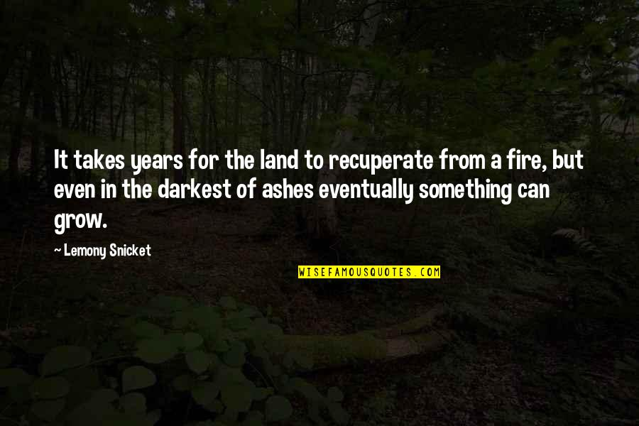 Turn Phone Off Quotes By Lemony Snicket: It takes years for the land to recuperate