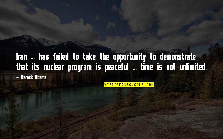 Turning 63 Quotes By Barack Obama: Iran ... has failed to take the opportunity