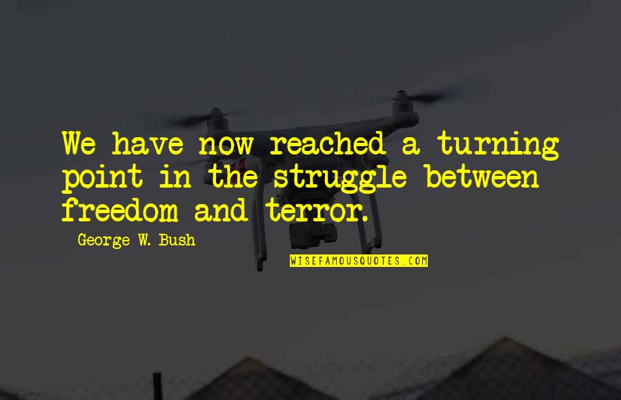 Turning Point Quotes By George W. Bush: We have now reached a turning point in