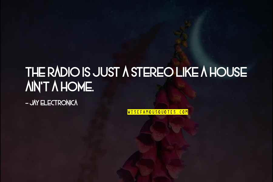 Turtle Valentine Quotes By Jay Electronica: The radio is just a stereo like a