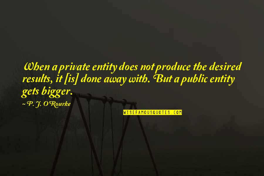 Tutted Quotes By P. J. O'Rourke: When a private entity does not produce the