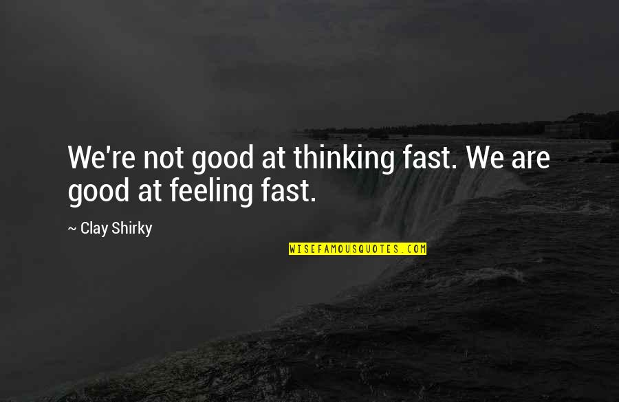 Tvd S3 Quotes By Clay Shirky: We're not good at thinking fast. We are
