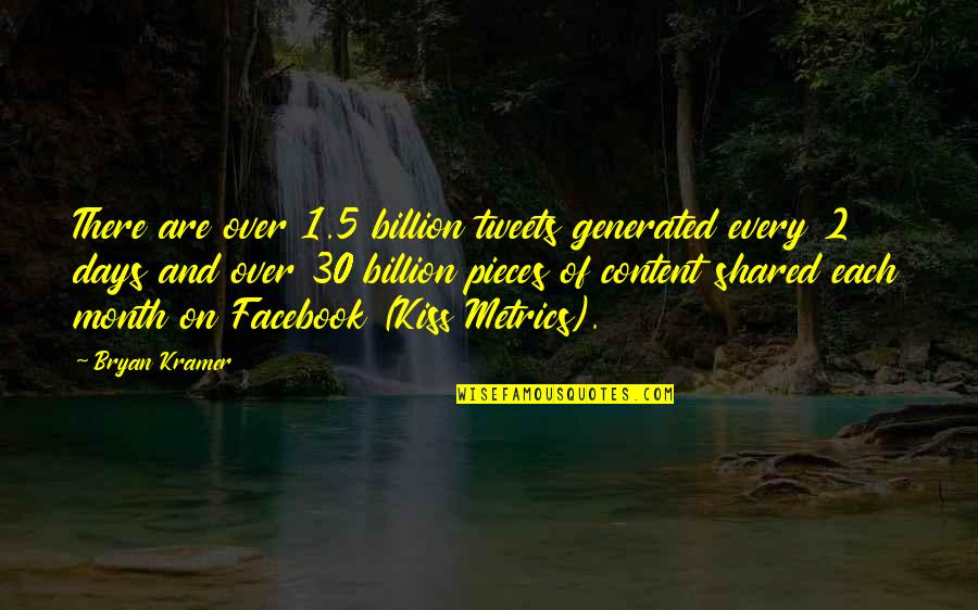 Tweets Quotes By Bryan Kramer: There are over 1.5 billion tweets generated every