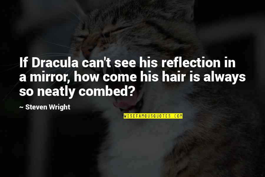 Twelfth Night Olivia Quotes By Steven Wright: If Dracula can't see his reflection in a