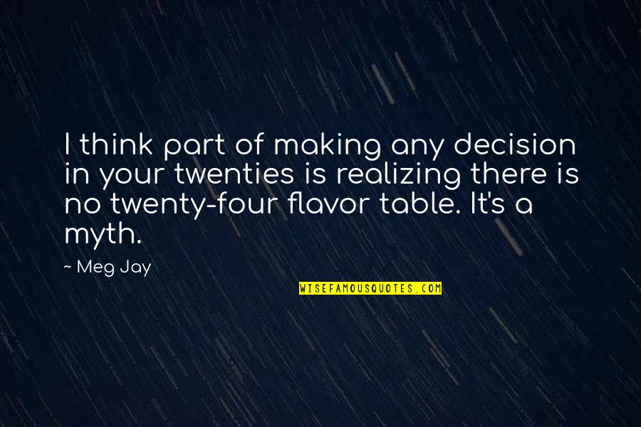 Twenty Four Quotes By Meg Jay: I think part of making any decision in