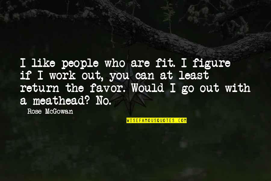 Twerkers Quotes By Rose McGowan: I like people who are fit. I figure