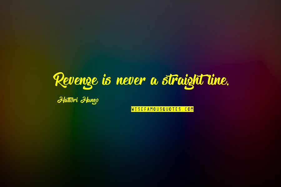 Twilight's Last Gleaming Quotes By Hattori Hanzo: Revenge is never a straight line.