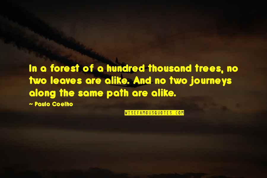 Two Alike Quotes By Paulo Coelho: In a forest of a hundred thousand trees,