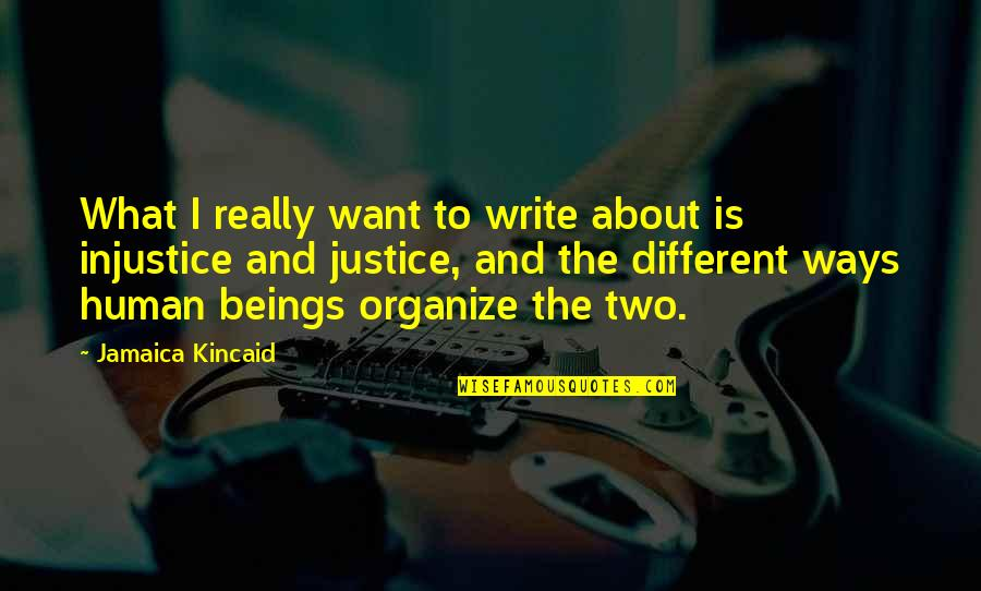 Two Different Ways Quotes By Jamaica Kincaid: What I really want to write about is
