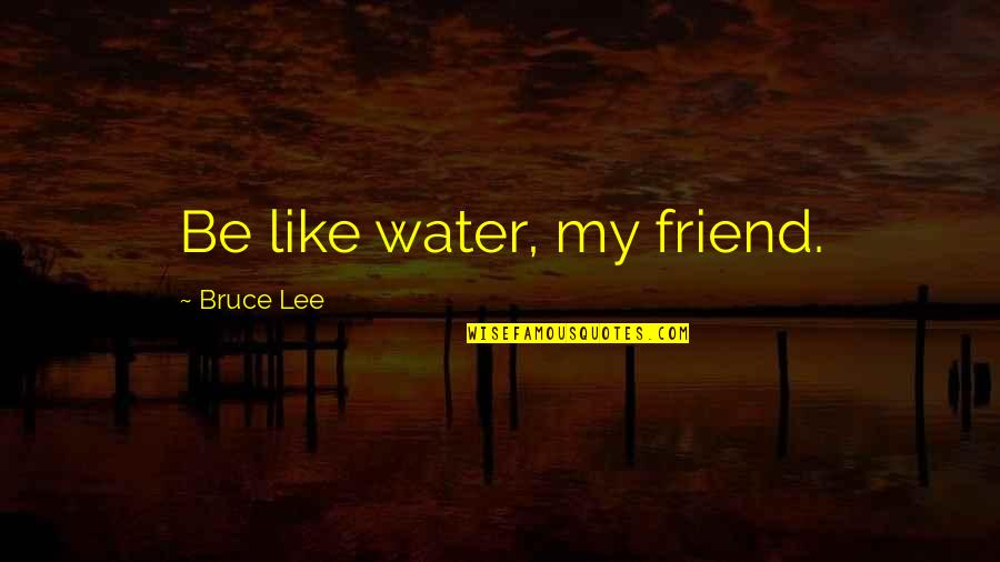 Two Faces Of January Quotes By Bruce Lee: Be like water, my friend.